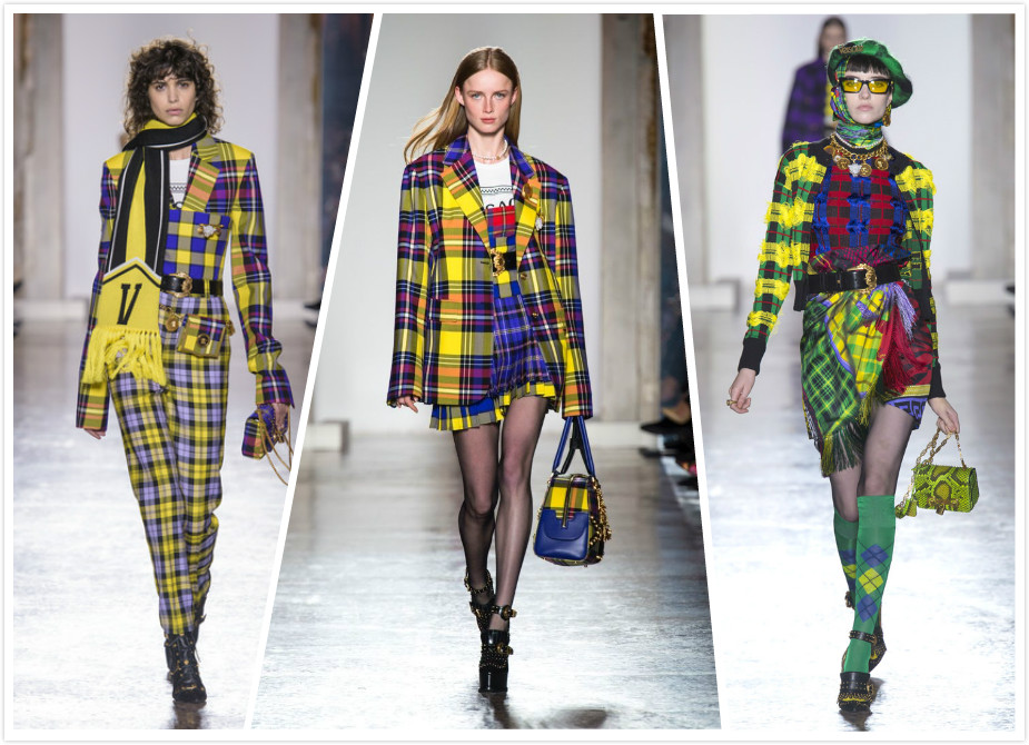 Plaid Versace Fall 2018