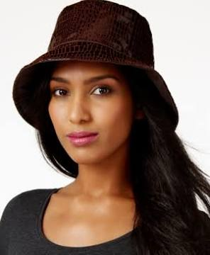 Eric Javits  200 dollar bucket hat is so cool for rainy days!! It is  actually treated leather in a cool crocodile texture. a656f6991f4