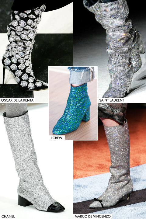 chanel glitter boots. i know, super long title but theses boots are everything really don\u0027t go with everything. normal boot rules apply here i.e. hemline should fall 1 inch chanel glitter